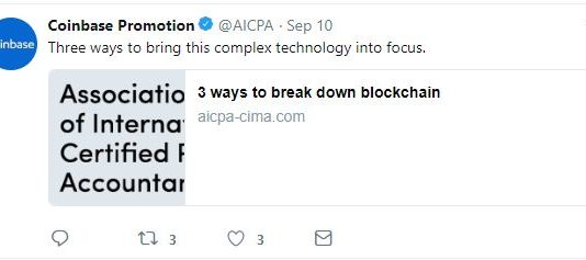 AICPA blockchain tweet