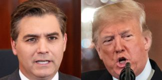 donald trump jim acosta side by side