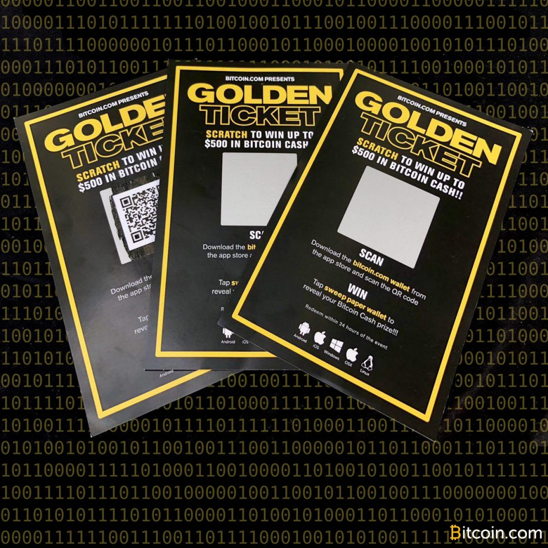 Host a BCH Giveaway With Bitcoin com's Golden Ticket