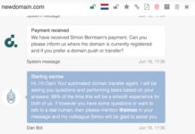 DAN Bot is a new conversation-style domain transfer agent from DAN.com, formerly known as Undeveloped