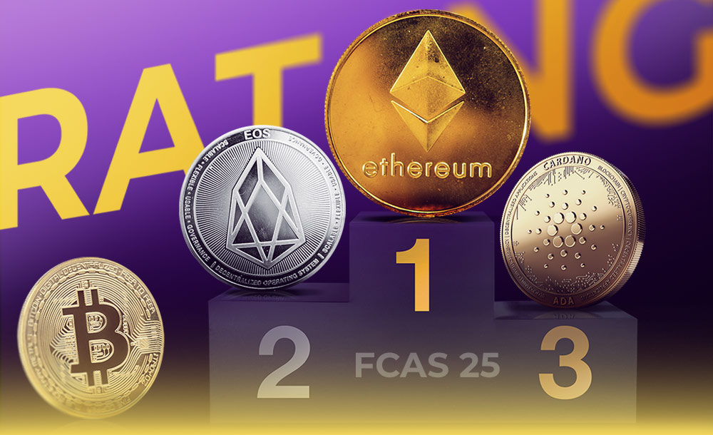 Ethereum, EOS and Cardano overtook Bitcoin in the FCAS 25 rating