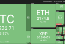 Cryptocurrency market daily overview. Source:Coin360