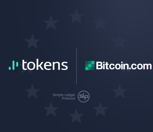 Tokens.net sigilla la partnership con Bitcoin.com come partner SLP ufficiale