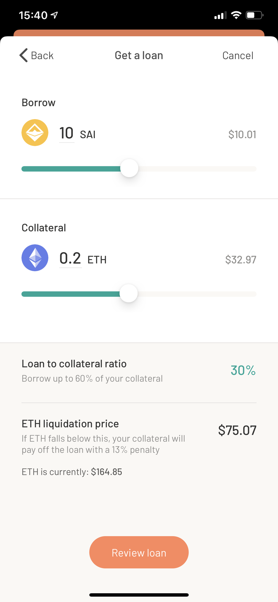 Taking out a loan for cryptocurrency