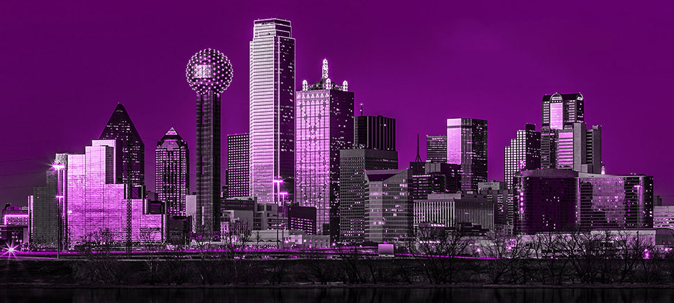 skyline di dallas viola